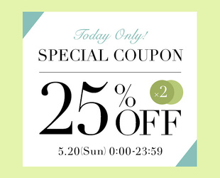 25%OFF COUPON × 2