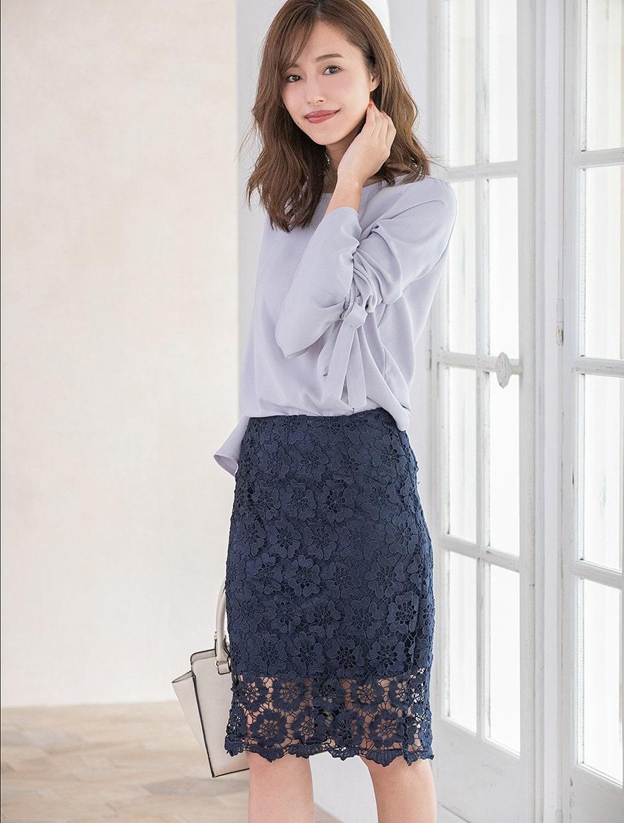【fifth/フィフス】レースタイトスカート