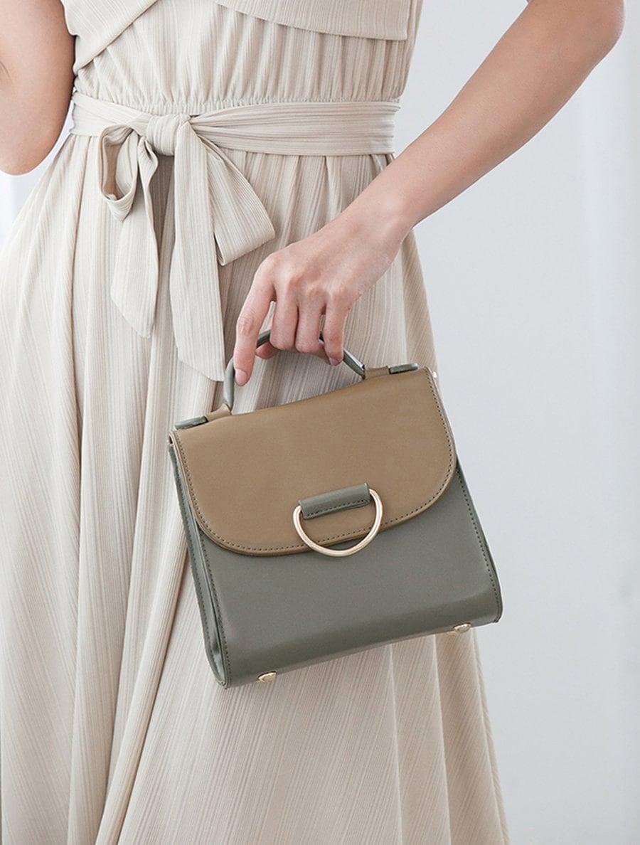 【fifth/フィフス】配色デザイン2wayハンドバッグ