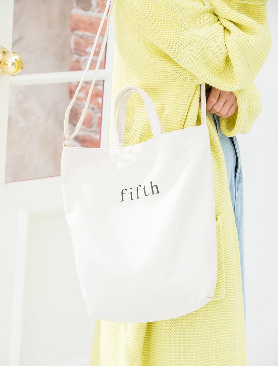 【fifth/フィフス】【5周年】ロゴ2wayトートバッグ