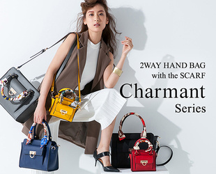 2way Handbag with the Scarf<br />Charmant Series