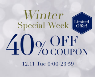 40%OFF COUPON!!