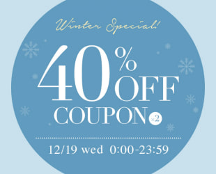 40%OFF SPECIAL COUPON!